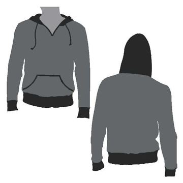 Picture of Beast Hooded Pullover Style 834 Blank