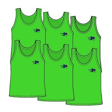 Picture of Package of 6 Youth Size Pinnies Style 905J